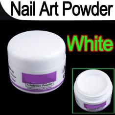 Pudra, praf acrilic alb french acryl pentru constructie unghii 12g