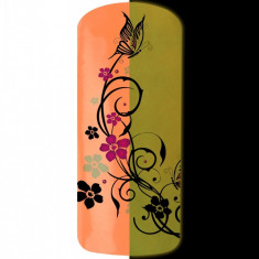 Pudra pigment fosforescent portocaliu de gel UV, Nded Germania, 3 gr, art. 8582 - Model unghii