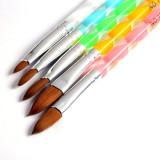 Set 5 pensule pentru unghii false acrilice sau modele decoratiuni pentru acryl