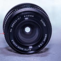 Obiectiv vivitar 28mm montura minolta - Obiectiv DSLR Vivitar, Standard, Manual focus, Minolta - Md