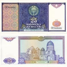 UZBEKISTAN 25 sum 1994 UNC!!! - bancnota asia