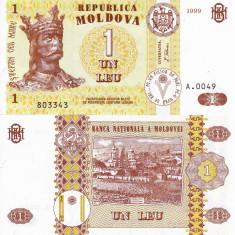 MOLDOVA 1 leu 1999 UNC!!! - bancnota europa