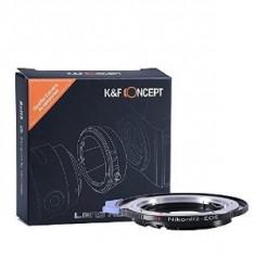 Adaptor K&F obiective Nikon G la camere Canon EOS, control diafragma - Inel adaptor obiectiv foto