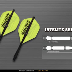 Tije darts INTELITE medium, negru ONE80 - Tija Darts