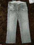 Blugi moderni fete, mar 6-8 ani, 116-128 cm, talie inalta. COMANDA MIN 30 LEI