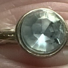 Inel(model logodna) auriu cu zirconiu D=17mm - Inel fashion