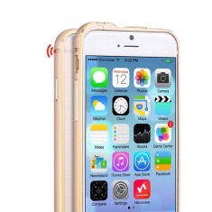 Husa BUMPER ALUMINIU premium - HOCO Fedora, iPhone 6, ultra usor, LUX, AURIU - Husa Telefon Hoco, iPhone 6/6S, Metal / Aluminiu