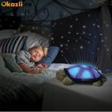 Lampa de  veghe copii Proiector tavan broscuta testoasa muzicala + cablu USB