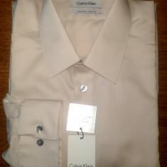 Camasa originala Calvin Klein - barbati L -100% AUTENTIC, Maneca lunga, Crem
