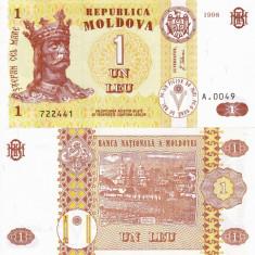 MOLDOVA 1 leu 1998 UNC!!! - bancnota europa