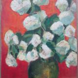 Vaza cu flori - semnat Bosuca L. - Pictor roman
