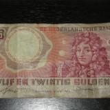 Bancnota 25 guldeni Olanda 1955