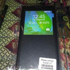 HUSA Samsung Galaxy A7 flip case ultra subtire diverse culori - s-view - Husa Telefon Belkin, Negru, Piele, Cu clapeta