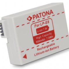 PATONA | Acumulator pt CANON LP-E8 LPE8 EOS 550D EOS 600D 550-D 600-D 950mAh - Baterie Aparat foto