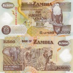ZAMBIA 500 kwacha 2008 polymer UNC!!!