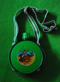 Plosca vintage CANTIMPLORA TEXAS verde, colectie, decor,