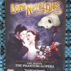 LOVE NEVER DIES - ANDREW LLOYD WEBBER - film musical 1 DVD (NOU, sigilat!!!)