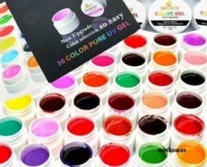 Kit Set Gel 36 Color Geluri Colorate Lampa uv Manichiura + 15 Pensule