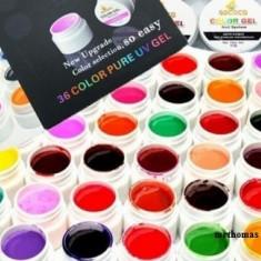Kit Set Gel 36 Color Geluri Colorate Lampa uv Manichiura + 3 x Sclipici