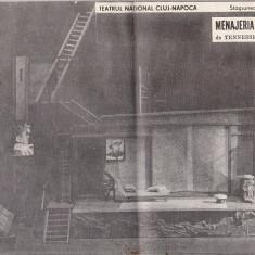 Bnk div Program - Teatrul National Cluj-Napoca - Menajeria de sticla 1978-1979