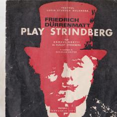 Bnk div Program - Teatrul Lucia Sturdza Bulandra - Play Strindberg - 1971