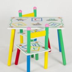 MASA CU SCAUNELE DIN LEMN - Masuta/scaun copii