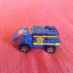 Macheta / jucarie masinuta de metal Politie (police) 7 cm, Mattel 2000 Matchbox - Macheta auto Hot Wheels