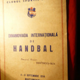 Dosar prezentare - Dinamoviada Internationala de Handbal -sept. 1974