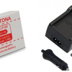 PATONA | Incarcator + Acumulator compatibil Canon LP-E8 LPE8 LP E8 550D - Incarcator Aparat Foto