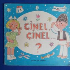 CINEL, CINEL..? ( GHICITORI PENTRU COPII ) * ILUSTRATII BURSCHI GRUDER - 1990 - Carte cu ghicitori pentru copii