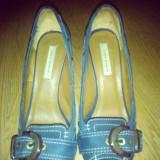 Pantofi ZARA - Pantof dama Zara, Culoare: Bleumarin, Marime: 38, Cu platforma