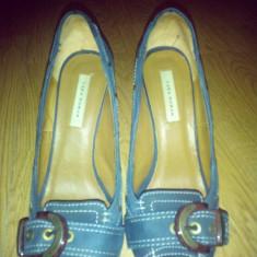Pantofi ZARA - Pantof dama Zara, Culoare: Bleumarin, Marime: 38