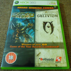 Pachet Jocuri Bioshock + Oblivion, XBOX360, original!, Shooting, 18+, Single player