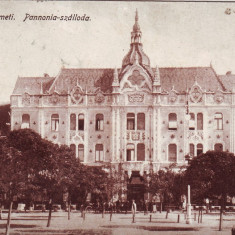 Romania, Szatmar-Nemeti, Satu Mare, carte postala mil.circulata 1916:Hotel, animat - Carte Postala Maramures 1904-1918, Fotografie, Baia Mare