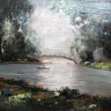 Tablou  semnat Kimon Loghi, Peisaje, Ulei, Impresionism