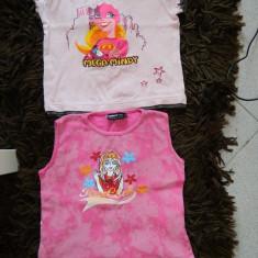 Set de doua tricouri pentru fetite, ideale de joaca. 1-3 ani, Culoare: Roz, Fete