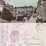 Bucuresti- Piata Teatrului- animata - Carte Postala Muntenia dupa 1918, Circulata, Printata