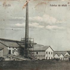 Ok-1476- Romania, Turda, carte postala circulata 1924: Fabrica de sticla