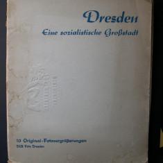 Album - 10 fotografii din orasul Drezda (Germania) marime 24 cm x 18 cm - Fotografie, Cladiri, Europa