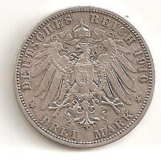 GERMANIA 3 MARCI 1910 ARGINT, Europa