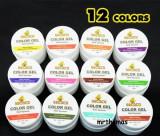 Kit Set Gel 12 Geluri color Colorate unghii false GD COCO pentru lampa uv, Gel colorat