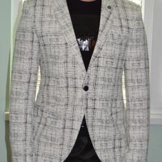Sacou Sacouri barbati model 2016 casual / elegant - Sacou barbati, Marime: 46, 48, 50, 52, Culoare: Crem, 1 nasture, Normal, Bumbac