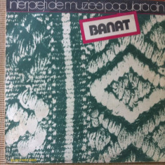 Interpreti din banat compilatie disc vinyl lp Muzica Populara electrecord folclor banatean, VINIL