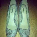 Pantofi STRADIVARIUS - Pantof dama, Culoare: Bej, Marime: 38, Cu platforma