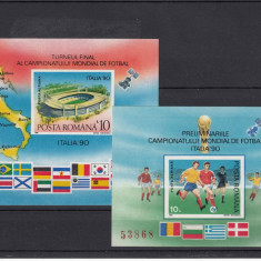 1990 PRELIMINARII SI CAMPIONATUL FOTBAL ITALIA,COLITA NEDANT, MNH - LOT 1 RO