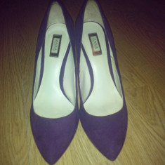 Pantofi ZARA - Pantof dama Zara, Culoare: Mov, Marime: 38, Piele intoarsa