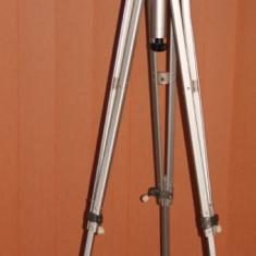 Trepied foto video film Paillard Bolex. Made in Switzerland.