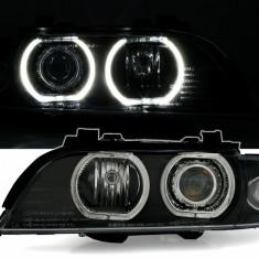 Faruri BMW seria 5 E39 cu lupa si ANGEL EYES *** MODEL NOU F30 look Diederichs, 5 (E39) - [1995 - 2003]
