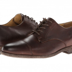 Pantofi Frye Harvey Cap Toe | 100% originali, import SUA, 10 zile lucratoare - Pantofi barbat Frye, Piele intoarsa