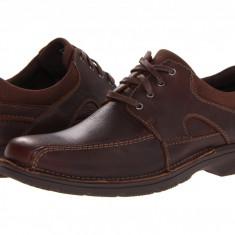 Pantofi Clarks Senner Blvd | 100% originali, import SUA, 10 zile lucratoare - Pantof barbat Clarks, Piele intoarsa, Casual